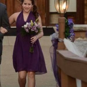 Donna Morgan Bridesmaid dress. Size 0. Amethyst